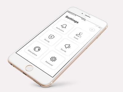 Tile Settings tile settings mobile app 007 dailyui