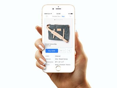 Single Item E-Commerce Shop iphone breadcrumb ugmonk shopping mobile buy ecommerce ui 012 dailyui