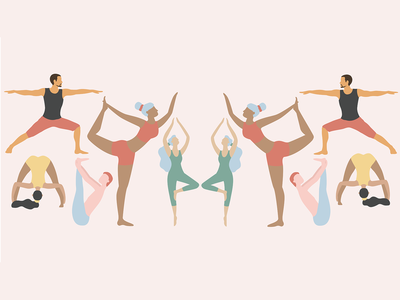 YOGA TIME vector illustration