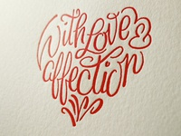 With love Letterpress