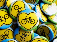 Love Bike Buttons