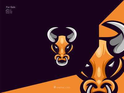 Bull logo company graphic logo creation sport identity new modern animal bull motion graphics ui illustration graphic design esport design branding 3d animation apparel logo