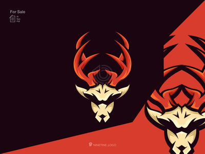 Deer logo icon brand logo simple modern new initial logo company animal deer motion graphics ui logo illustration graphic design esport design branding apparel animation 3d