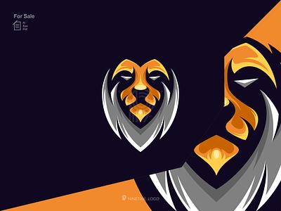 LION logo graphic symbol icon simple esport simple logo modern animals sport lion motion graphics ui 3d animation apparel design illustration esport branding graphic design logo