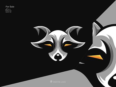 Raccoon logo identity icon modern mascot symbol simple logo animal logo raccoon sport motion graphics ui 3d animation apparel branding illustration graphic design esport design logo