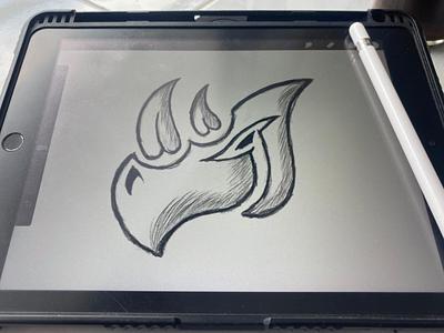 Rhino logo tranding sport mascot symbol simple modern initials animal rhino motion graphics ui 3d illustration animation graphic design apparel branding esport design logo