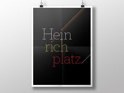 Welcome to Heinrichplatz type poster heinrichplatz berlin
