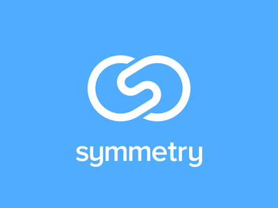 Symmetry symmetry logo logotype mark brand