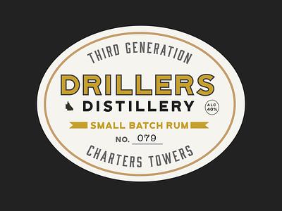 Drillers Distillery queensland bottle label rum small batch