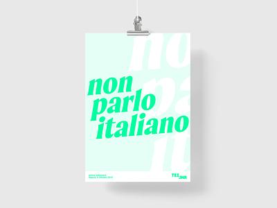 non parlo italiano developer design apple italy tezjnr prints language study poster napoli