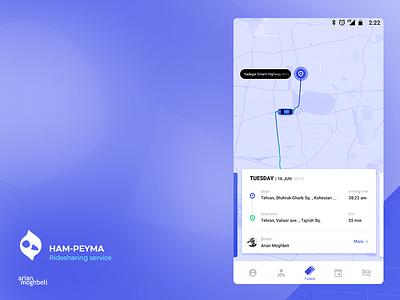 Hampeyma ui design ux ui tehran map car ride uber mobile iran ios application android