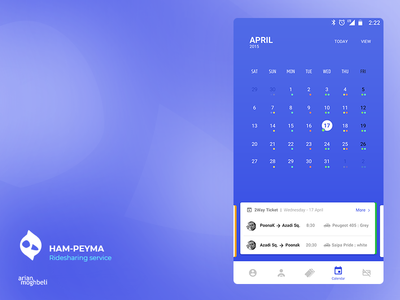 Dribbble Hampeyma 3 uber tehran iran calendar map application ios android