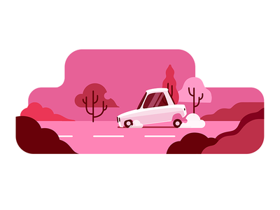 TAP30 illustration transport car iran red snapp lyft uber paykan taxi app taxi tap30 illustration