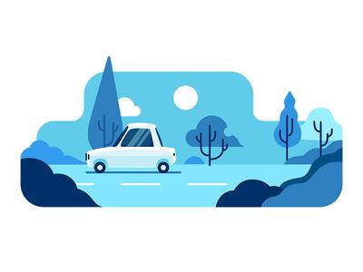 TAP30 illustration car transport iran paykan blue snapp lyft uber taxi app taxi tap30 illustration
