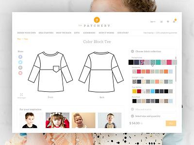 Custom Made Kids' Clothing Store kids clothing store magento ecommerce