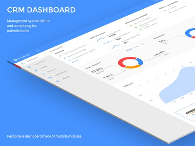 Web CRM admin graphs dashboard business crm