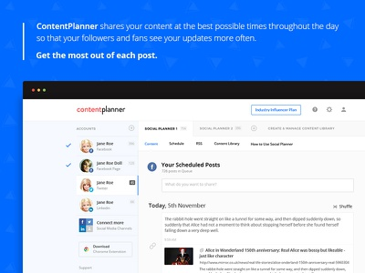 Social Media Posting Tool facebook instagram twitter ruby angular ror dashboard buffer social