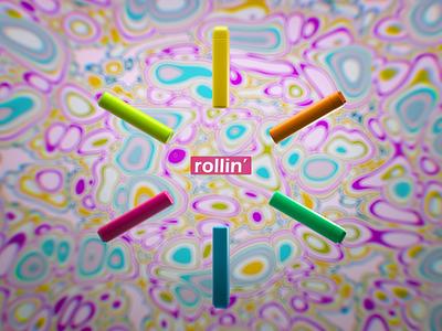 Keep rollin' c4d cinema4d photoshop dailyrender 3drender daily product design 3ddesign art 3d mograph cloner light gradient colorful render loop animation ui