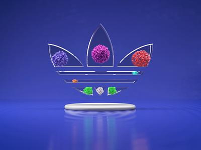 PLAYINSIDE:> dailyrender 3dart 3drender artwork aftereffects photoshop design cinema4d art adidas branding logo motion graphics graphic design 3d animation ui