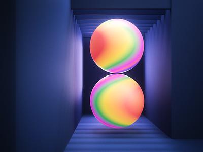 Gradient Spheres. c4d redshift shpere abstract render daily colorful color logodesign animation ui logo illustration artwork aftereffects photoshop design cinema4d art 3d