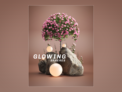 Glowing Spheres. branding motion graphics animation render redshift octane daily abstractrender abstract ui logo illustration artwork aftereffects photoshop design cinema4d art 3d