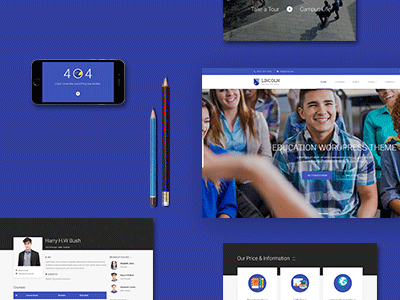 Lincoln -  Material Design Education Theme online learning course tickets event theme wordpress college school education material design