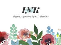 INK - Elegant Magazine Blog PSD Template