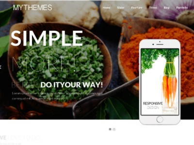 Free Mythemes HTML5 mythemes template html5 cooking freebie free