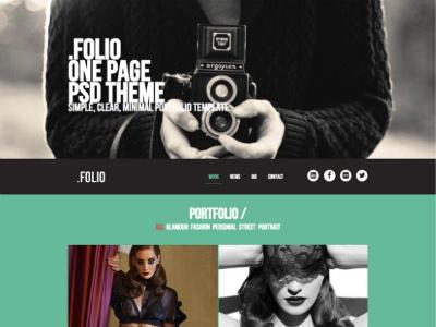 Free Folio HTML5 creative agencies folio template html5 portfolio freebie free