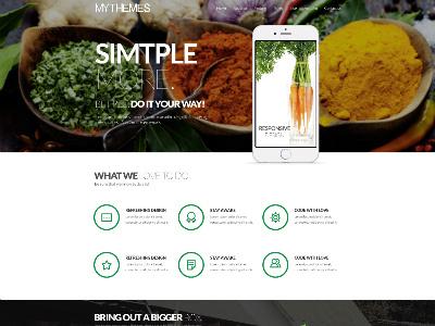 Free Mythemes PSD Template mythemes template psd cooking freebie free