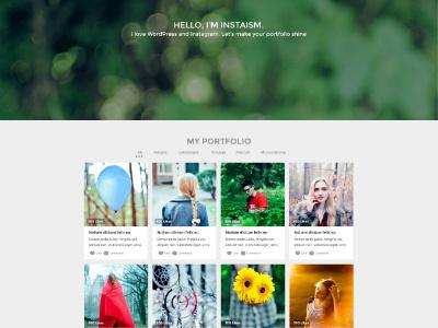 Free INSTAISM PSD Template portfolio instagram instaism template psd blog freebie free