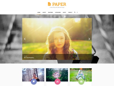 Free PAPER PSD Template writers blogging paper template psd blog freebie free