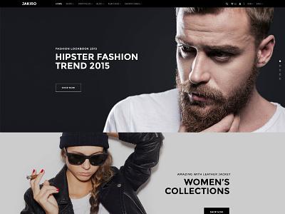 JAKIRO – Fashion PSD Template online store fashion store fashion shop psd template shop fashion jakiro