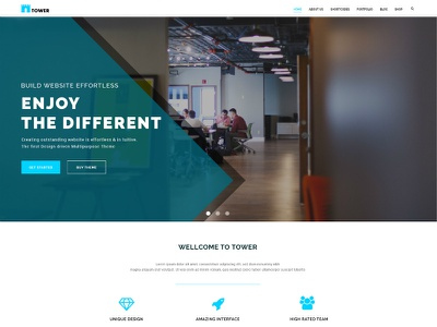 TOWER - Creative Small Business PSD Template for Startups small business psd template psd startup business tower