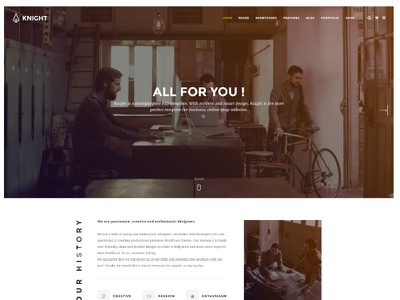 KNIGHT - Corporate and Shop PSD Template psd template online shop website shop corporate knight