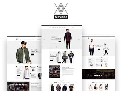 NEVEDA - Stylish PSD Template for Fashion Webshop webshop ecommerce fashion template psd