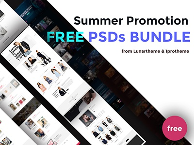 Summer Promotion: Free PSD from Lunartheme giveaway template psd freebie promotion