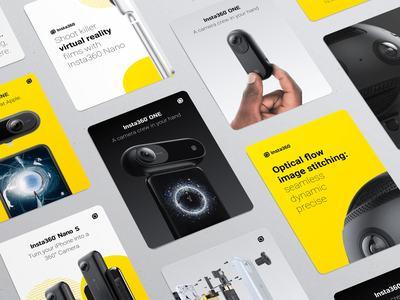 Insta360 Visual Identity Guidelines vi print 360 camera hardware guidelines styleguides panorama go pro gopro dji vr visual identity branding logo 360 degree insta360 360 camera