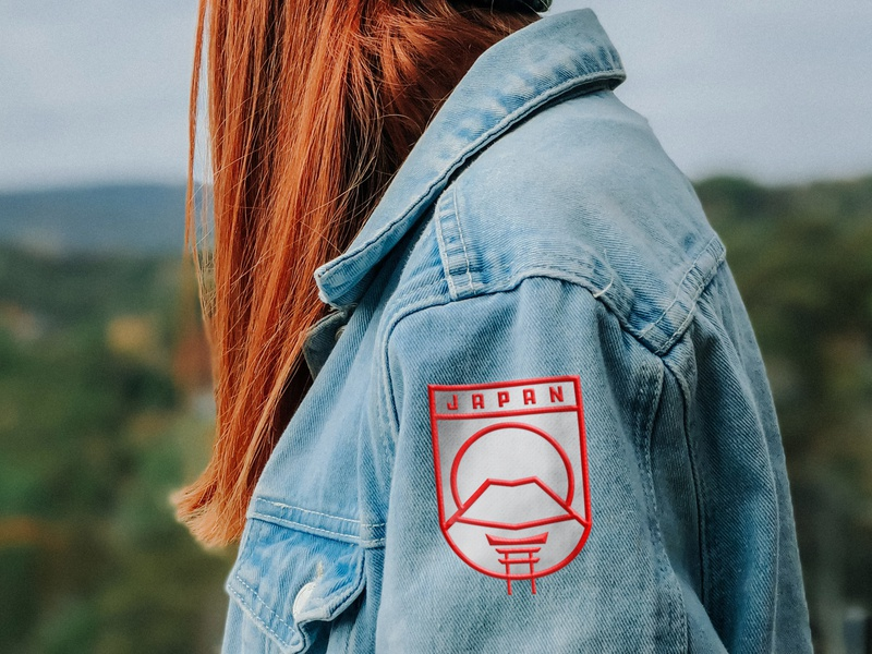 Japan Patch Design illustrator graphic design japan fun branding logo jacket patch