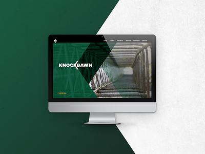 Knockbawn Website - Mockup digital design construction web design