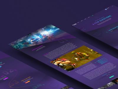 TWITCH - Website Concept digital design concept digital design website gaming twitch