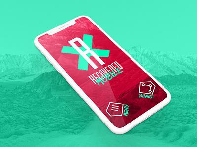 Recovered Mobile - Site Design mock up digital web design design mobile