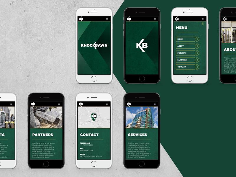 Knockbawn Mobile Dribble ux typography ui graphic design construction branding web design digital design digital