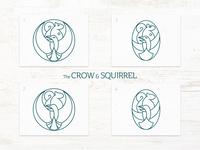 The Crow & Squirrel Pub - Logo Iterations