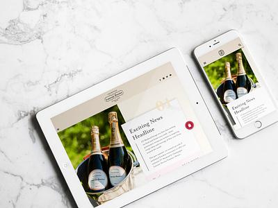 Laurent Perrier Mobile Concept design website concept digital web design digital design branding app concept mobile concept website concept mobile ui mobile app tablet website design