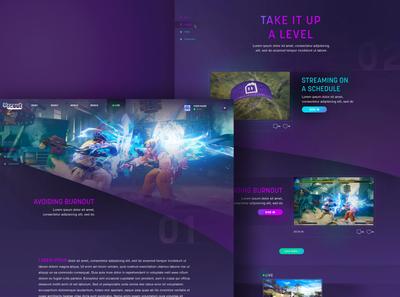 Twitch Concept - Website Design twitch desktop design web design digital design branding web concept ux ui webdesign design digital website