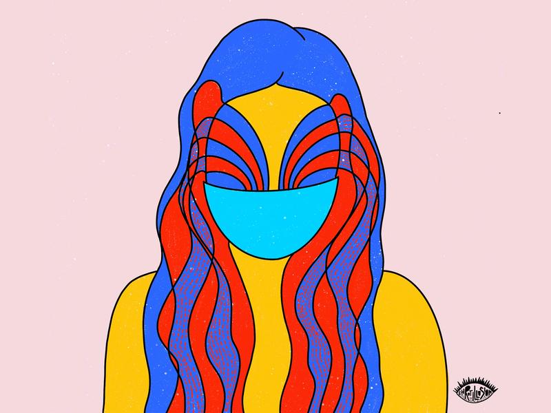 Self portrait 3 selfportrait emotion mask sanity covid19 design concept art abstract illustration graphic shrutillusion