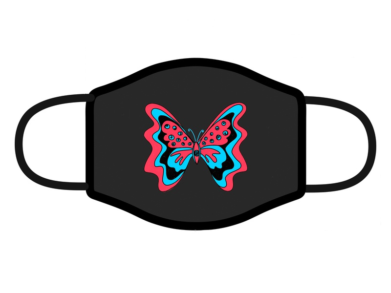 Face Mask Design life change quarantine corona face hope butterfly facemask mask concept art abstract graphic design illustration shrutillusion