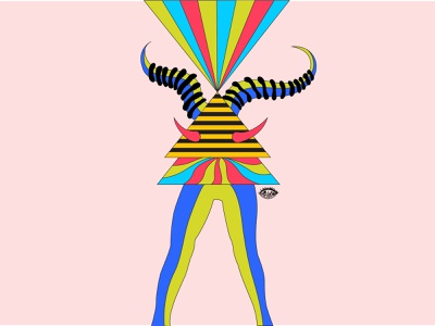 Let D-Will Rise horns devil horns illustrator designer will devil sketch concept art abstract illustration design graphic shrutillusion