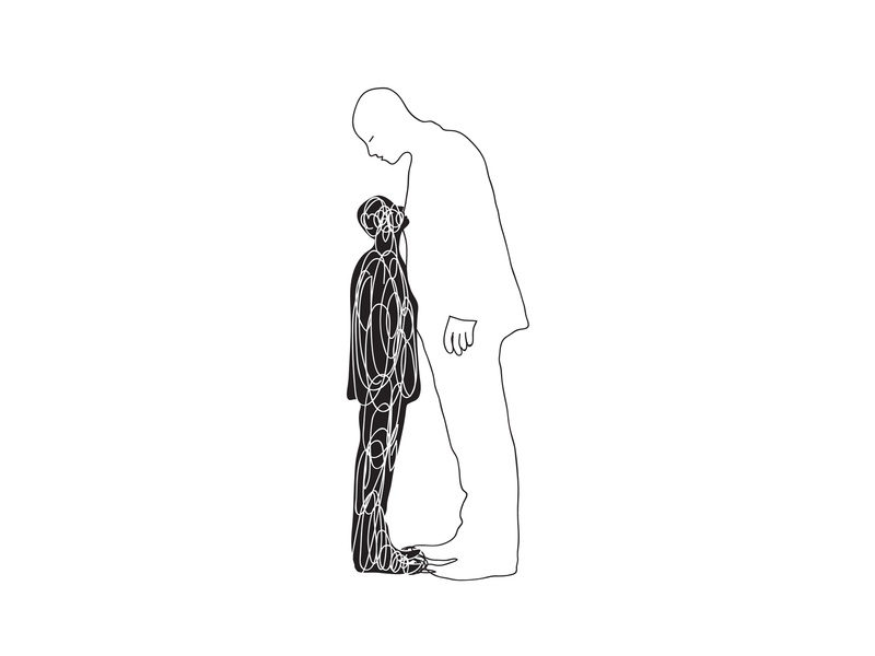 We are our own shadows minimalist lineart editorialillustration bookillustration death sketch shadows poetry art abstract concept illustration graphic shrutillusion
